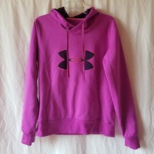Under armour women's semi fitted purple hoodie